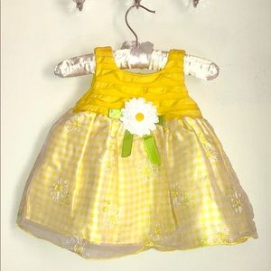 Youngland Baby Yellow Dress. Size 6/9M